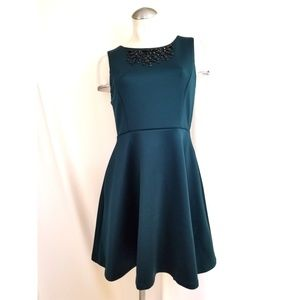 Cynthia Rowley Size 6 Teal Dress Embellished